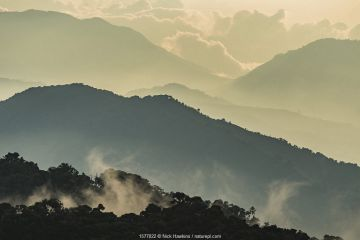 Mountain landscape of Talamanca Range, Costa Rica