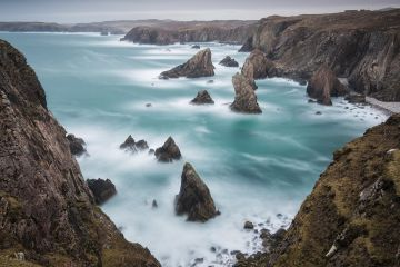 Sea Stacks at Mangurstadh, Aird Feinis, Isle of Lewis, Outer Hebrides, Scotland, UK