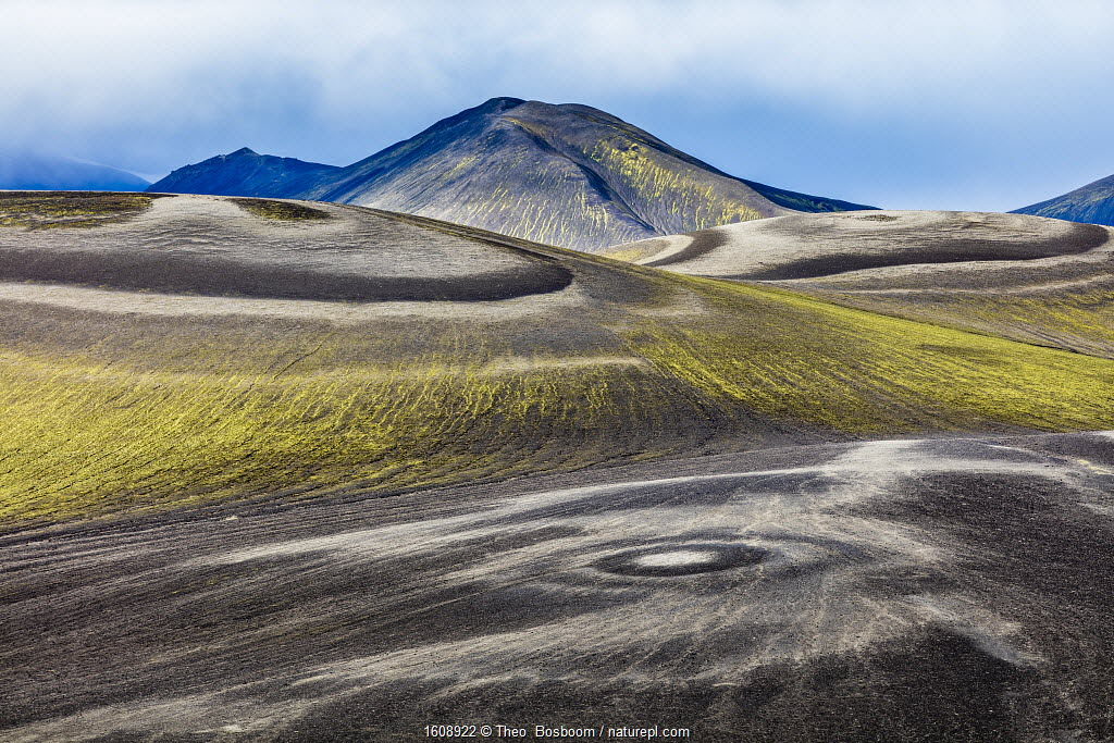 Landscape in Fjallabak Nature Reserve, with circular patterns on the ground, Iceland, September 2017. Highly commended in the Landscape category of the GDT European Wildlife Photographer of the Year Awards 2018.