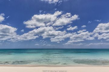 Landscape of beach on Cat Island. Bahamas. April 2017.