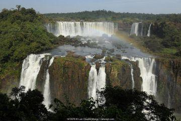Iguassu Falls at Iguacu National Park, Foz do Iguacu, Parana State, Southern Brazil.
