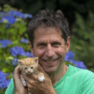 Mark Taylor and ginger kitten