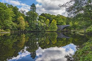 Beaver Bridge over River Conwy, near Betws-y-Coed, Snowdonia National Park, North Wales, UK
