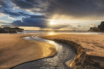 Mhangarstaidh Beach, Isle of Lewis, Outer Hebrides, Scotland, UK, March.