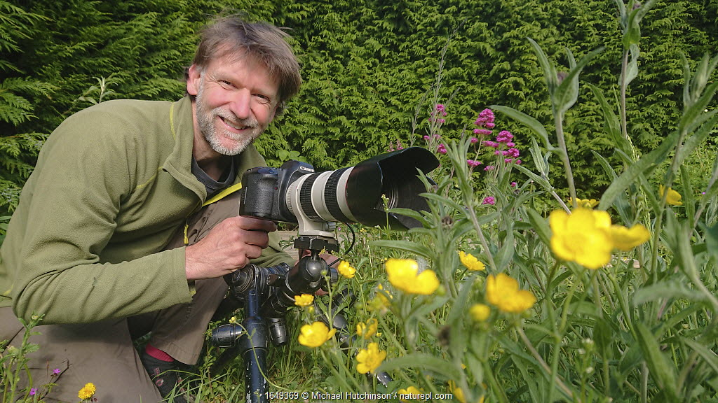 Photographer Michael Hutchinson at work during lockdown, Bristol, UK, May.