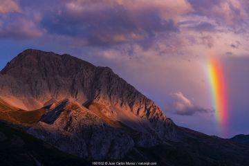 Rainbow in the Massif of Las Ubinas between Asturias and Leon, Spain.