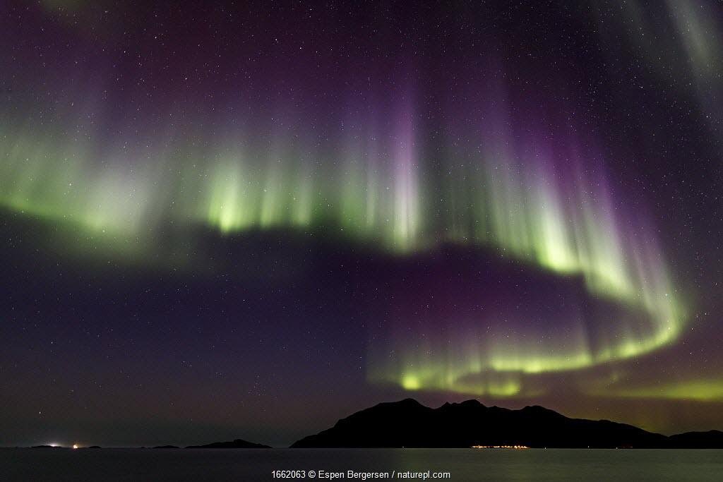 Aurora Borealis over Troms, Northern Norway.