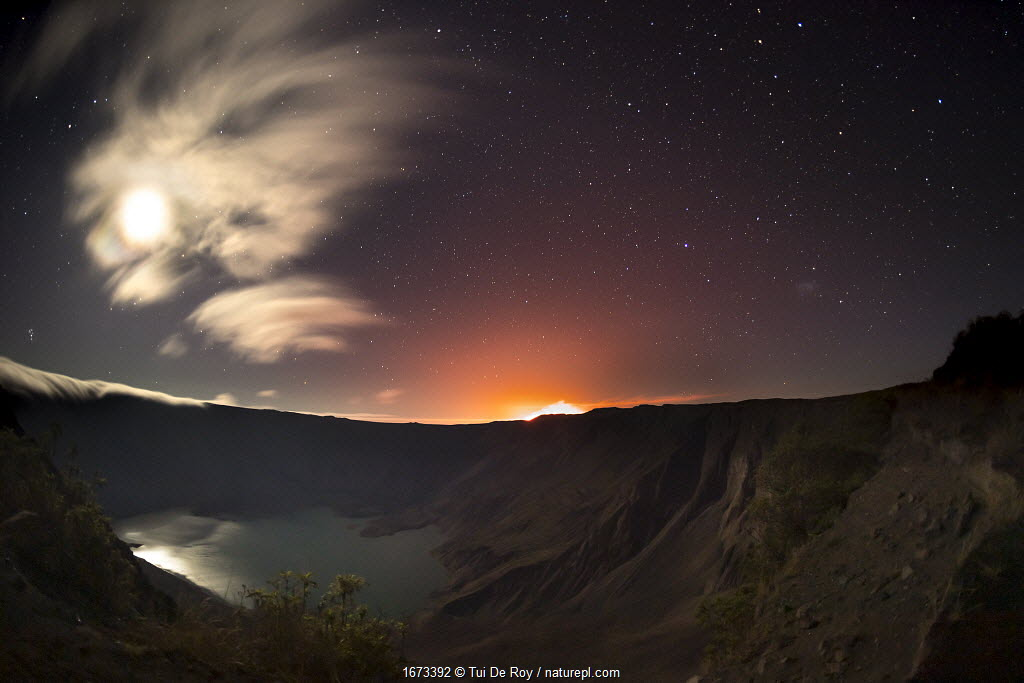 Volcan Chico eruption near the summit of Volcan La Cumbre, Fernandina Island, Galapagos.