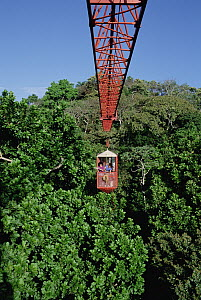 Forty meter rainforest canopy research crane used by researchers at Smithsonian Tropical Research Institute (STRI) at Parquet Metropolitan, Panama - Mark Moffett