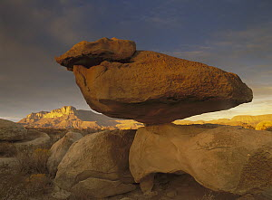 El Capitan and Balanced Rock, Guadalupe Mountains National Park, Texas  -  Tim Fitzharris