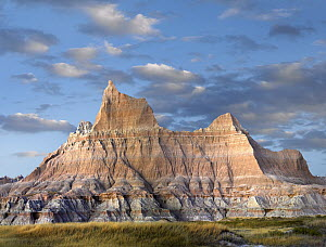 Sandstone striations and erosional features, Badlands National Park, South Dakota  -  Tim Fitzharris