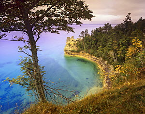 Castle Rock overlooking Lake Superior, Pictured Rocks National Lakeshore, Michigan  -  Tim Fitzharris