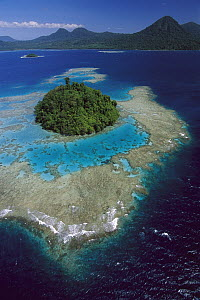 Coral reefs and islands, Kimbe Bay, West New Britain Island, Papua New Guinea  -  Ingrid Visser