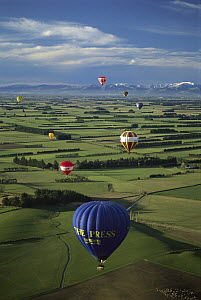 Hot air balloons over Canterbury, New Zealand  -  Andy Reisinger