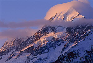 Sunset on Mount Cook, Southern Alps, New Zealand  -  Rob Brown