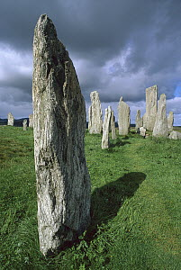 Callanish standing stones, erected approximately 2,000 BC, Isle of Lewis, Outer Hebrides, Scotland  -  Grant Dixon