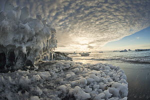 Ice boulders on Ridley Beach, Cape Adare, Ross Sea, Antarctica - Colin Monteath
