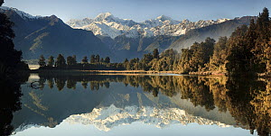 Mount Cook and Mount Tasman reflected in Lake Matheson near Fox Glacier, New Zealand - Colin Monteath