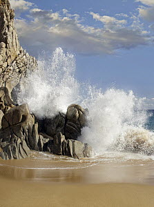 Lover's Beach with crashing waves, Cabo San Lucas, Mexico  -  Tim Fitzharris
