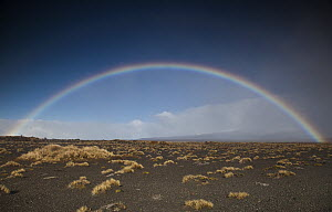 Rainbow over Rangipo Desert near Mount Ruapehu, Tongariro National Park, New Zealand  -  Colin Monteath