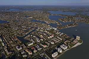 Buildings on artificial islands, Marco Island, Florida  -  Ingo Arndt