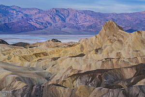 Rock formations, Manly Beacon, Zabriskie Point, Death Valley National Park, California  -  Jeff Foott