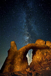 Milky way over arch, Turret Arch, Arches National Park, Utah - Jeff Foott