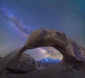 Arch and Milky Way, Alabama Hills, Sierra Nevada, California  -  Tim Fitzharris