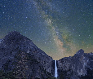 Milky Way over Bridal Veil Falls, Yosemite Valley, Yosemite National Park, California - Tim Fitzharris