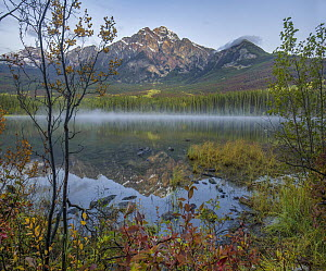 Pyramid Mountain from Pyramid Lake, Jasper National Park, Alberta, Canada  -  Tim Fitzharris