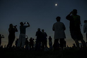 People watching and photographing total solar eclipse, Madras, Oregon - Sebastian Kennerknecht
