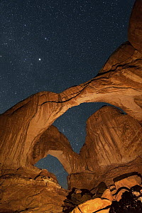 Stars above Double Arch, Arches National Park, Utah - Chase Dekker