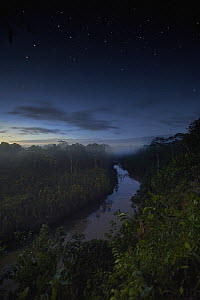 River in tropical rainforest at dusk, Tambopata Research Center, Peru - Paul Bertner