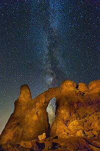 Turret Arch and the Milky Way, Arches National Park, Utah  -  Jeff Foott