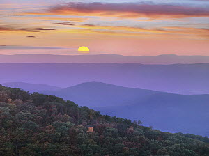 Sunset over mountains, Great Smoky Mountains National Park, Tennessee  -  Tim Fitzharris