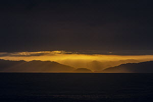 Sunset over coastal mountains, Taltal, Chile  -  Ralph Pace
