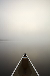 Canoe in fog, Superior National Forest, Minnesota  -  Benjamin Olson