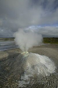Steaming solfatare or fumarole, geothermic activity, Hveravellir, central Iceland - Cyril Ruoso