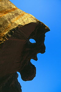 Rock that is face shapped, Western Cape, South Africa  -  Richard Du Toit