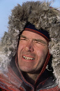 Will Steger portrait showing nose and cheeks affected by frost bite, North Pole, Arctic  -  Jim Brandenburg