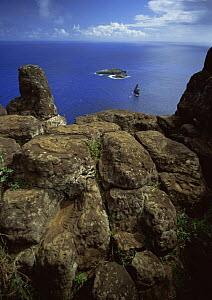 Birdman petroglyphs on the cliff top rocks at Orongo, Rano Kau, Easter Island - Phil Chapman