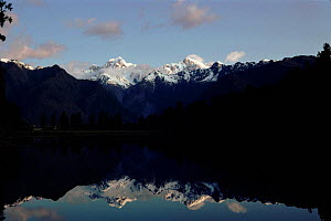 Mt Cook and Mt Tasman from Lake Matheson. Westland NP, New Zealand - Tim Edwards