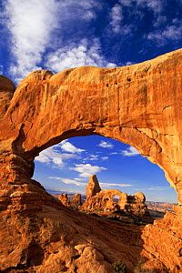 Looking through Turret Arch, Arches NP, Colorado Plateau, USA - David Welling