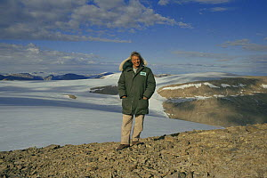 "Sir David Attenborough on Ellesmere Island, on location for. ""Private Life of Plants"" 1995. - NEIL NIGHTINGALE"