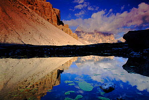 Mountain reflection, Dolomites, Italy  -  Tim Edwards