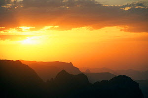 Simien Mountains from Sankaber at sunset, Ethiopia  -  Andrew Murray