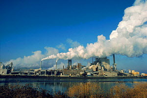 Pulp mill showing pollution. Tacoma, Washington state, USA  -  Doug Wechsler