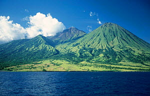 Komodo Island from the sea, Indonesia  -  Michael Pitts