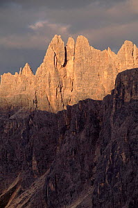 Passo di Giau (2236m) at sunset, Italian Dolomites. Northern Italy, Europe  -  Tim Edwards