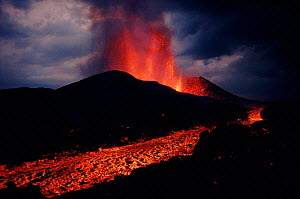 Kimanura eruption. Virunga NP, Rep of Congo (formerly Zaire), Central Africa  -  Jabruson